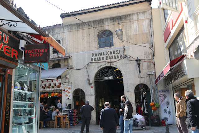 One of the entrances to Grand Bazaar Market in Istanbul, Turkey
