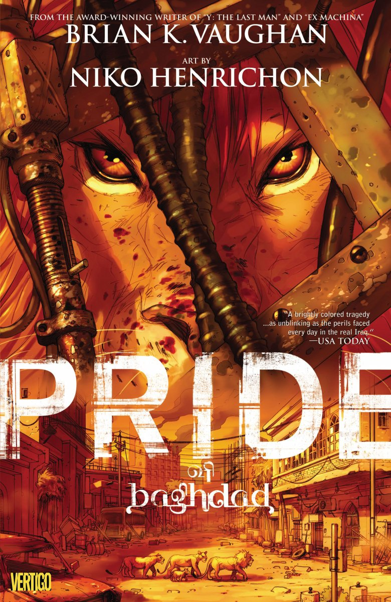 Read pride of Baghdad graphic novel cover