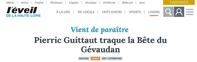 http://www.leveil.fr/saugues/loisirs/art-litterature/2017/07/20/pierric-guittaut-traque-la-bete-du-gevaudan_12491966.html