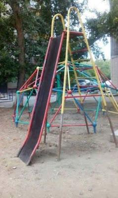 tobogán apto solo para niños maños