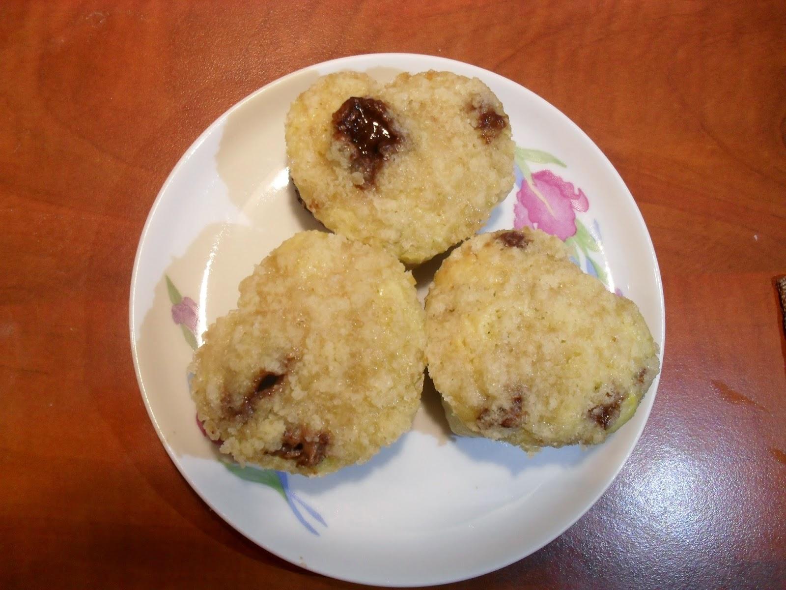 pomarańczowe muffinki z czekoladą