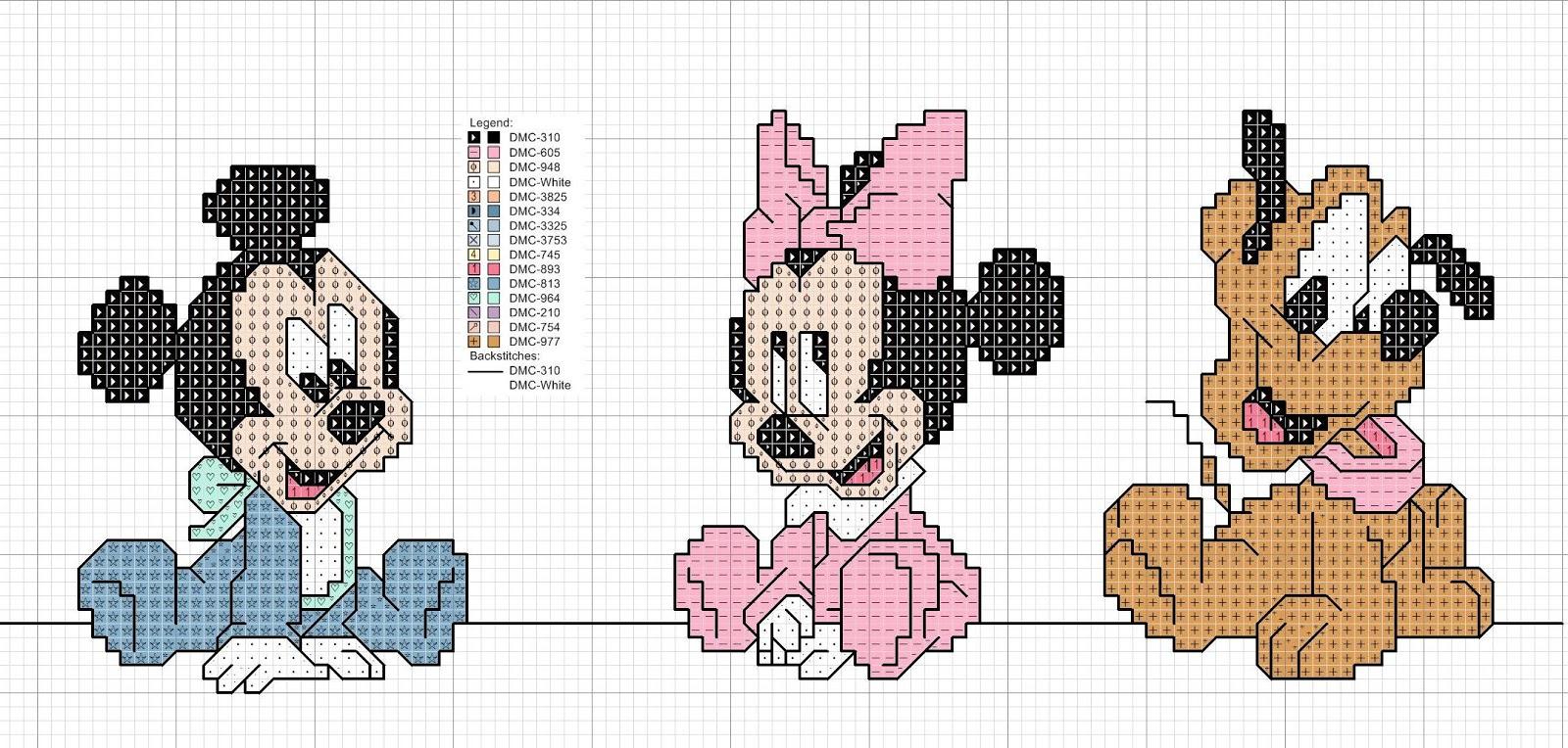 Super Grande raccolta di Schemi e grafici per Punto croce free: Disney  GK22