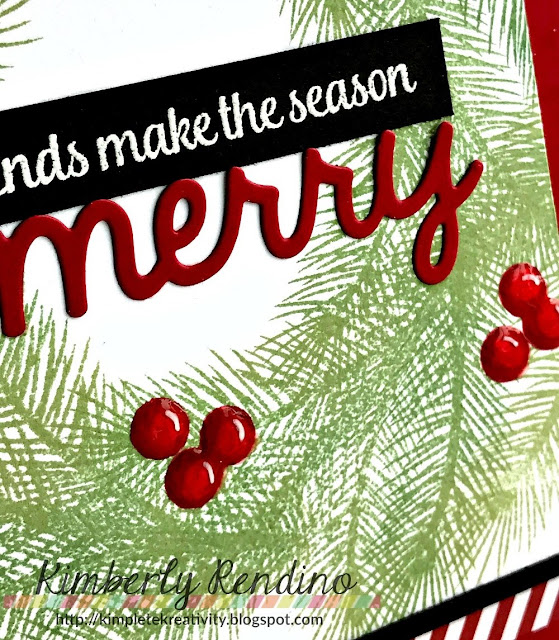 Sunny Studio Stamps: Holiday Style & Merry Sentiments Christmas Card by Kimberly Rendino.