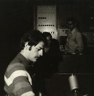 Hank Squires in the studio, 1969