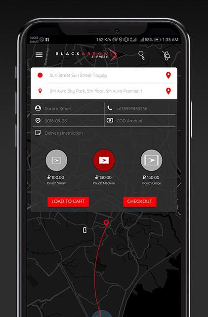 black arrow express app