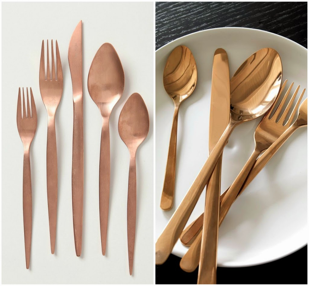 16 Rose Gold And Copper Details For Stylish Interior Decor: Le Petit Luxe: Pinspiration: Gold Flatware