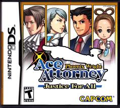 Nintendo DS Videogame Phoenix Wright Justice For All