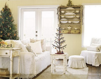 Heart Shabby Chic: 5 Inspiring Christmas Shabby Chic Living Room