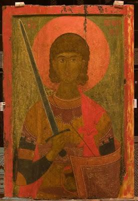 10. Η μεγάλης καλλιτεχνικής αξίας βυζαντινή φορητή εικόνα του Αγίου Προκοπίου από τον ομώνυμο Ιερό Ναό της Βέροιας.