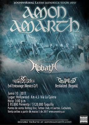 AMON AMARTH & ABBATH - JOMSVIKING LATIN AMERICA TOUR 2017 Bogota