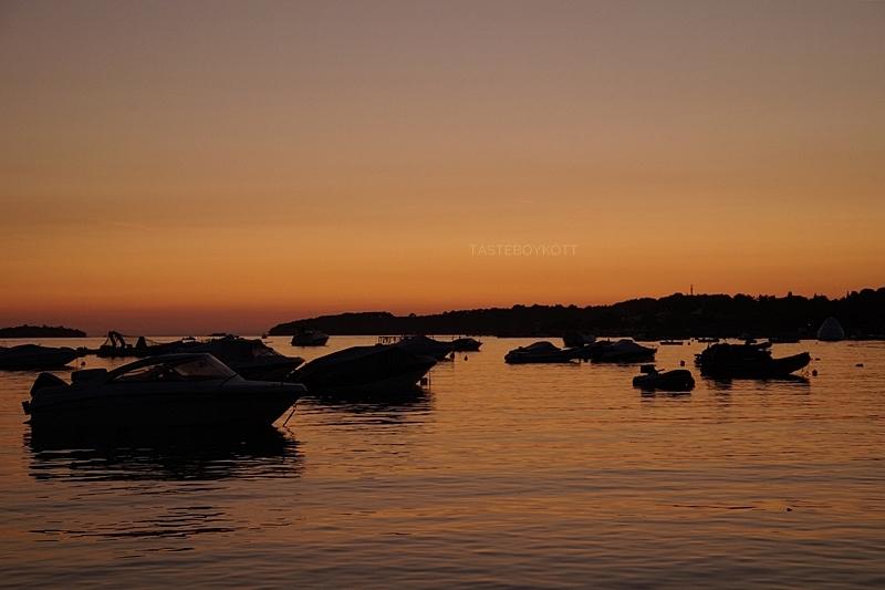 Kroatien Hafen Boote Meer Abendhimmel Sonnenuntergang Nacht Natur Fotografie