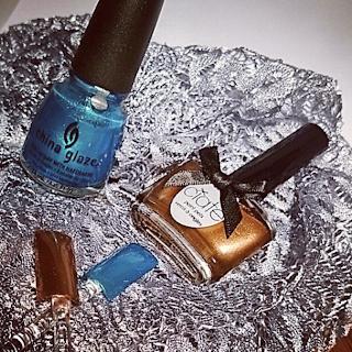 China Glaze Bleu et Ciaté OR - J'adore !!!