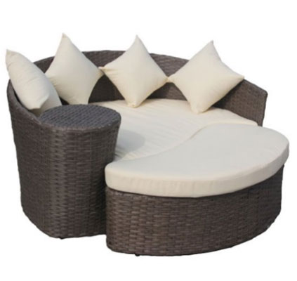 Charles Bentley Garden Wicker Rattan Curved Day Bed,  At Amazon.com, Round Aluminum Outdoor Table At Amazon Uk, Round Aluminum Outdoor Table At Amazon.ca, Outdoor Furniture, Round Outdoor Daybeds UK, Outdoor Daybeds UK, Daybeds UK, Outdoor Daybeds at Amazon.co.uk, Amazon.co.uk, Best Outdoor Daybeds, Outdoor Furniture,Quality Outdoor Daybeds,