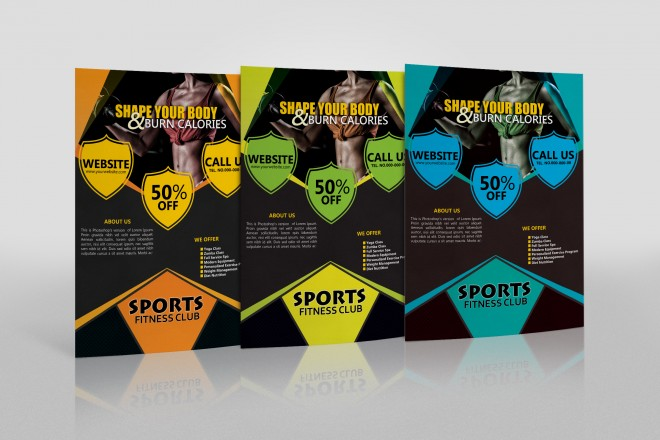 Free Sports Fitness Club Flyer