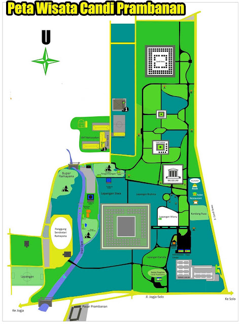 Gambar Peta Wisata Candi Prambanan