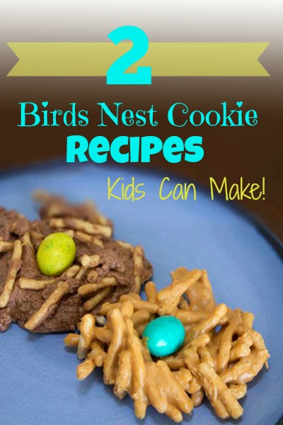 Kids can Make these 2 Yummy Birds Nest Desserts