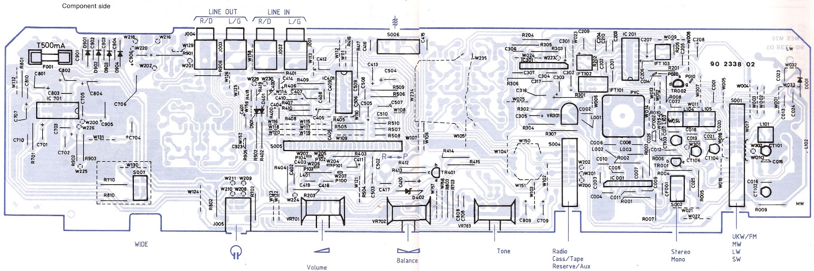 circuit diagram and pwb click on the pictures to magnify  [ 1600 x 533 Pixel ]