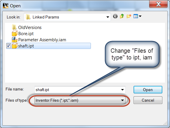 Linking Parameters from One Part to Another in Autodesk