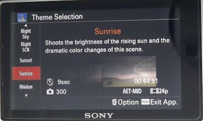 Theme Sunrise Pada Pembuatan Video Timelapse Menggunakan Sony A6000