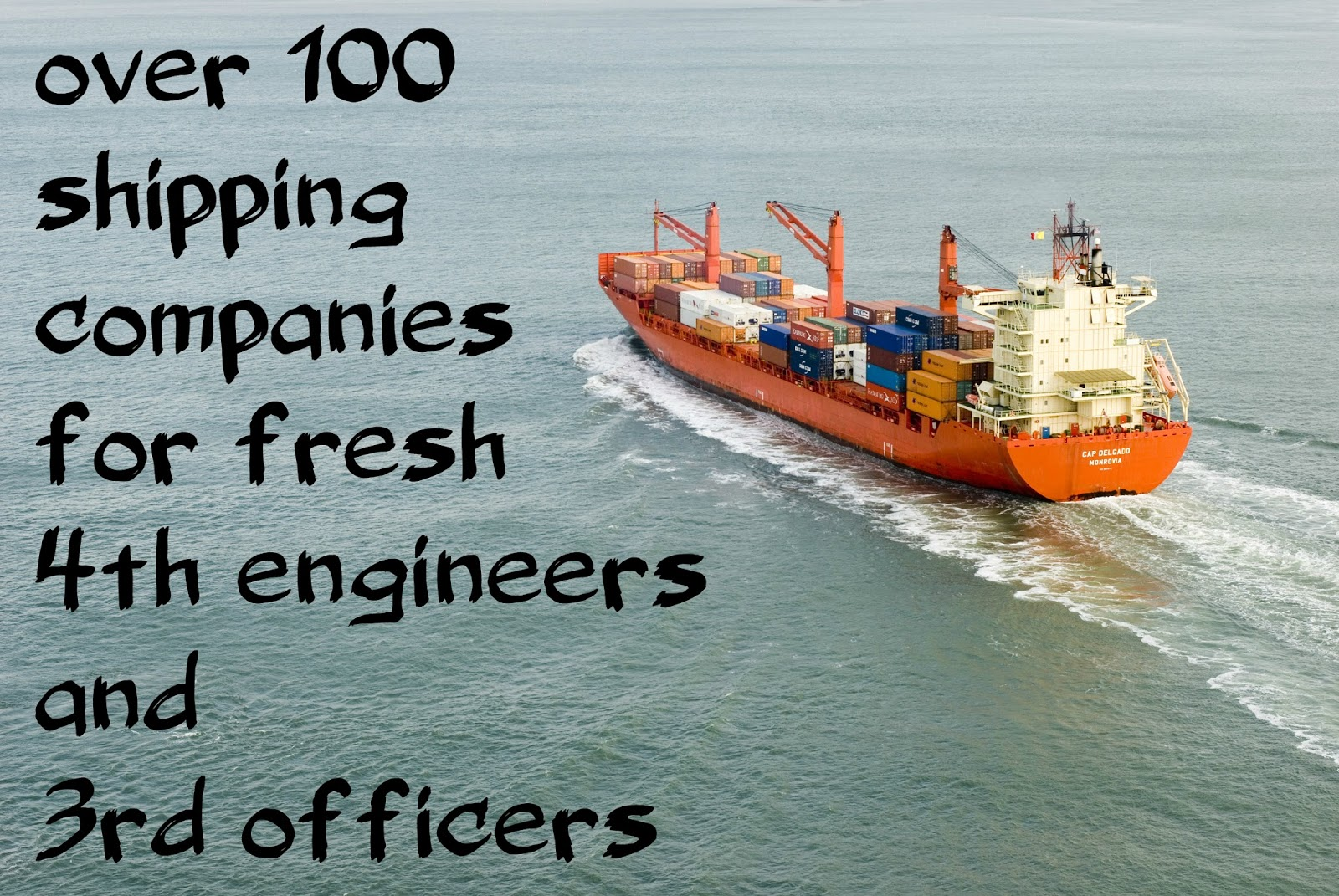 Shipping companies for fresh 4th engineers and 3rd officers !!