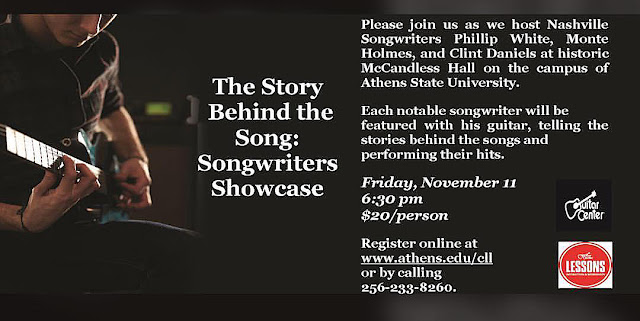 The Story Behind the Songs: Songwriters' Showcase Nov 11, 2016