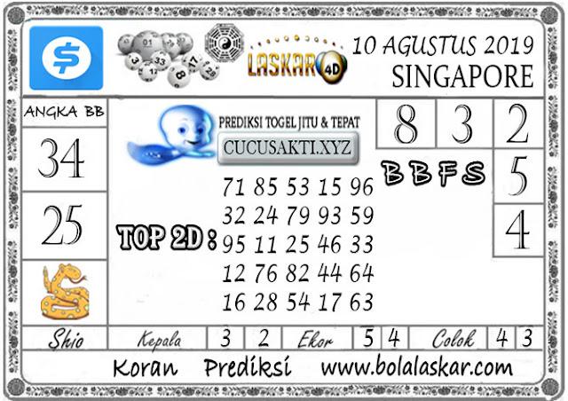 Prediksi Togel SINGAPORE LASKAR4D 10 AGUSTUS 2019