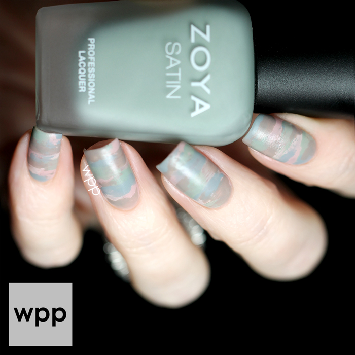 Zoya Naturel Satins Collection Sideswipe Nail Art