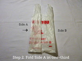 Step 2. Fold Side A in one-third.