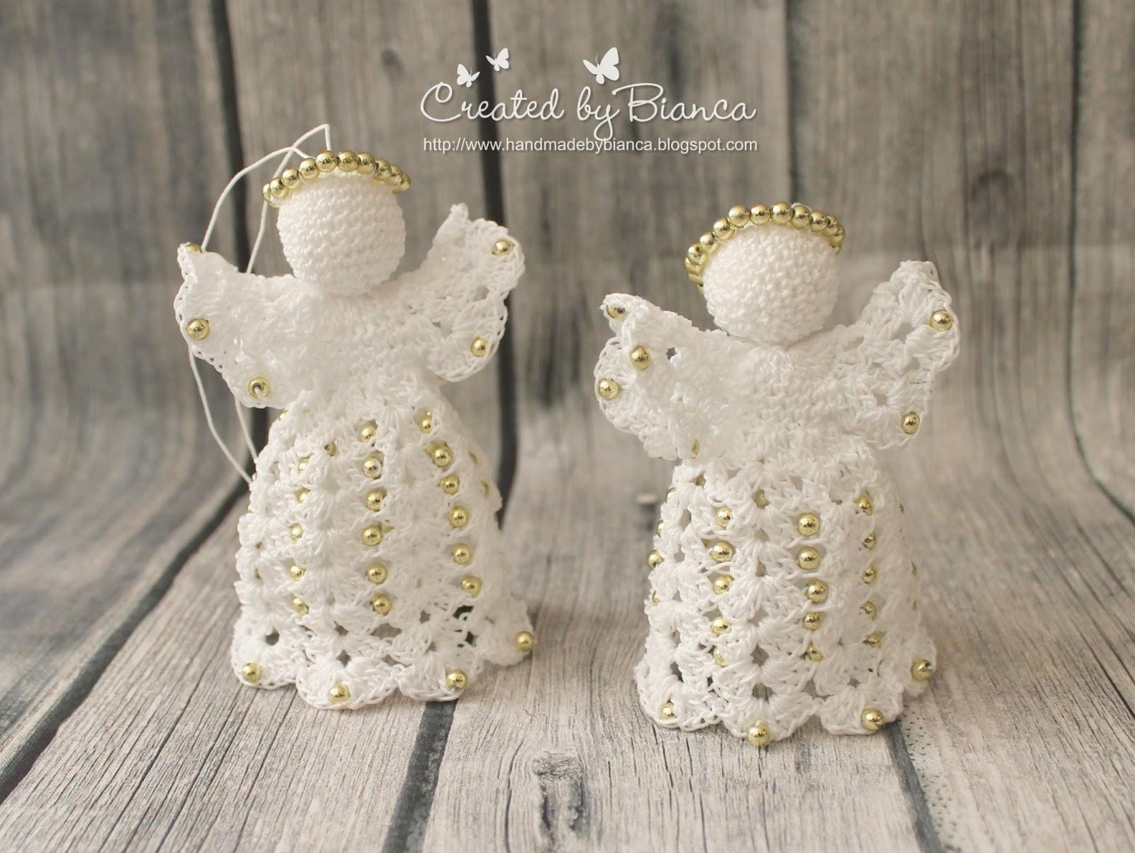 Handmade By Bianca Nostalgie Weihnachtsschmuck Engel Mit Perlen