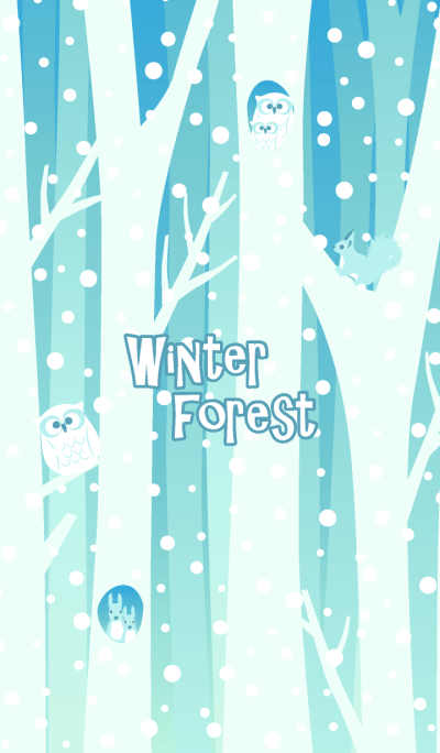 Winter forest & animals 3