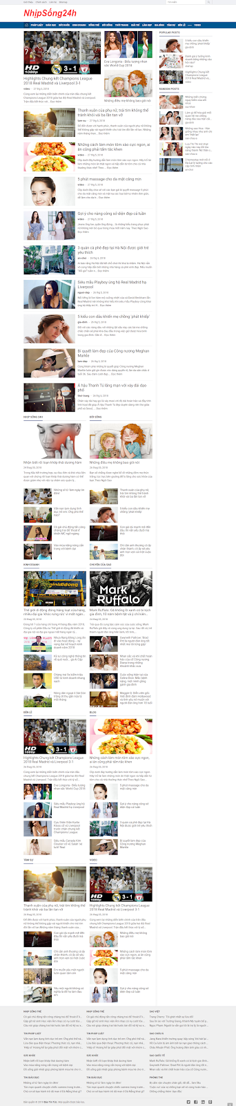 News Magazine Blogger Template