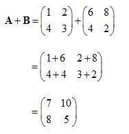 contoh soal matriks penjumlahan