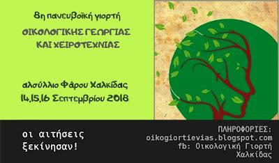 8η Πανευβοϊκή Γιορτή Οικολογικής Γεωργίας και Χειροτεχνίας Χαλκίδας