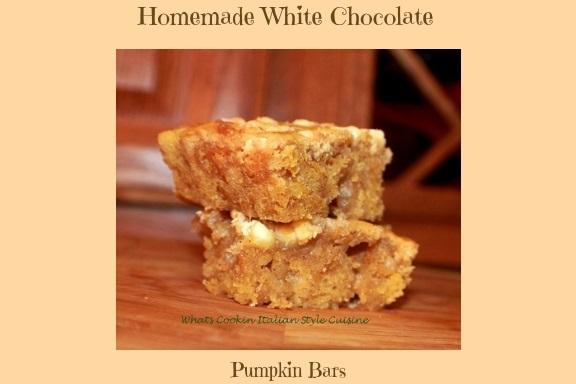 these are a white chocolate pumpkin spice bar with an easy to make bar for fall cookie with white chocolate and pumpkin all homemade from scratch recipe