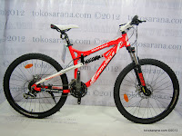 1 Sepeda Gunung Wimcycle Boxer 3.0 24 Speed Shimano Full Suspension 26 Inci