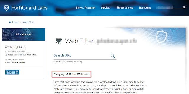 Testowana strona zakwalifikowana została do kategorii Malicious Websites, czyli złośliwych - lepiej nie korzystać z jej usług