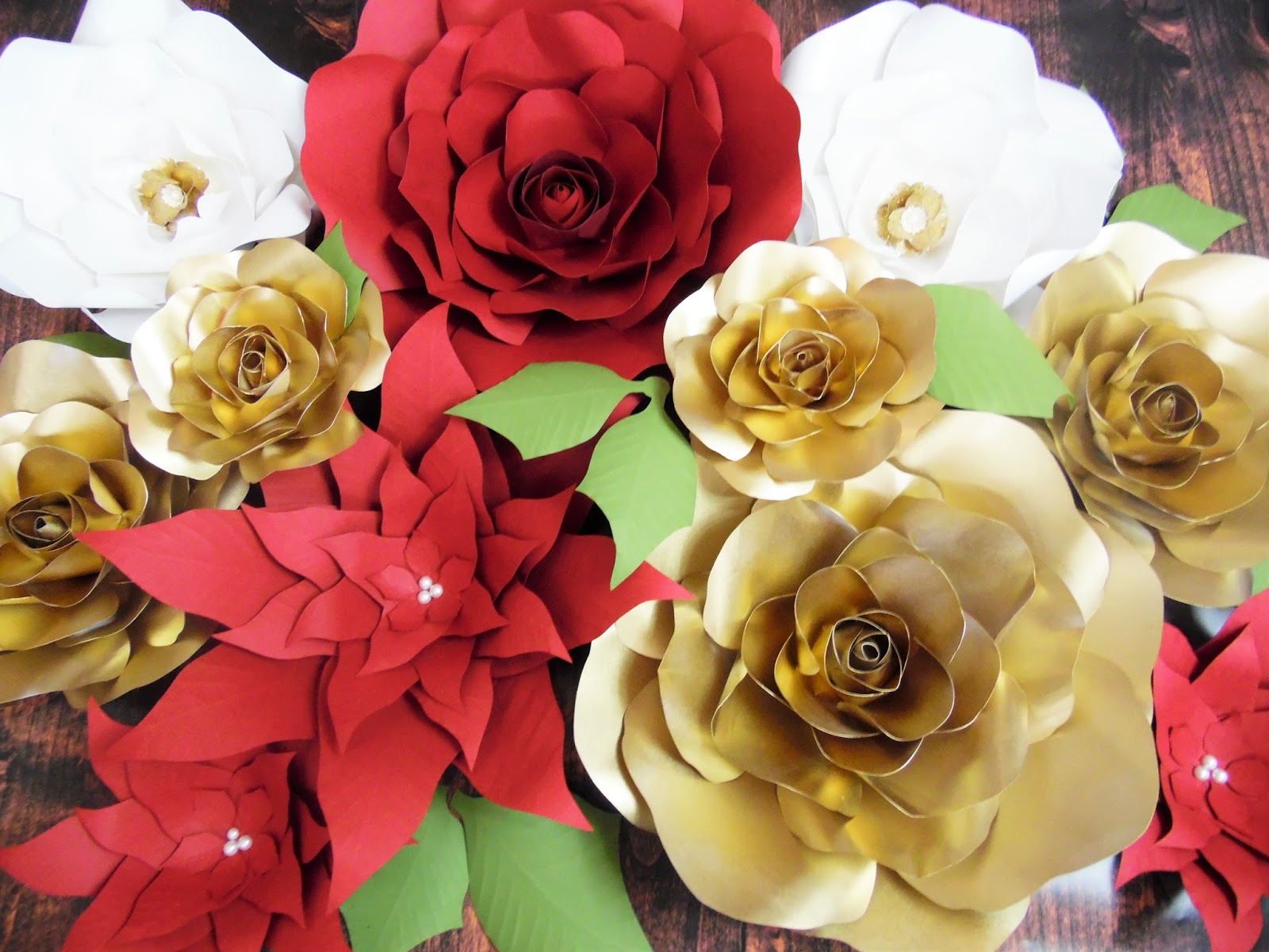 Gold paper flowers golden christmas inspirations catching colorlfies an error occurred mightylinksfo