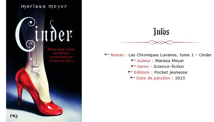 Avis Lecture 🔹 Les Chroniques Lunaires de Marissa Meyer, tome 1 - Cinder