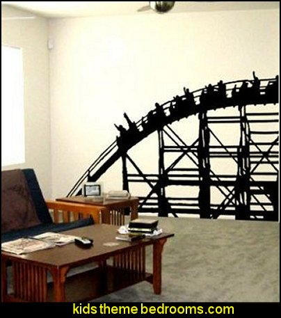 Roller Coaster Amusement Wall Vinyl Decal