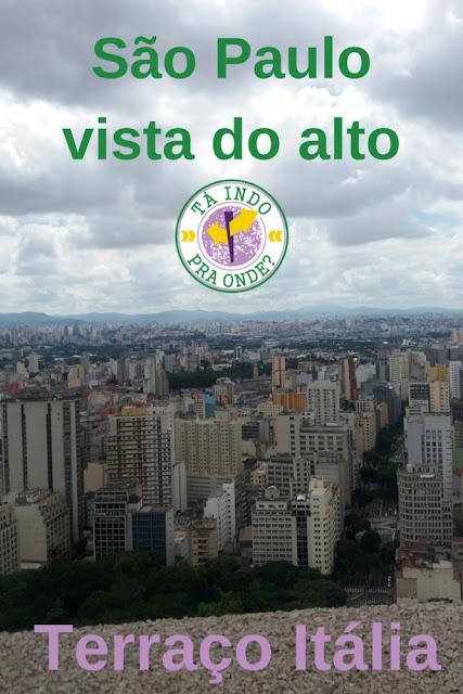 vista panorâmica de São Paulo - Terraço Itália