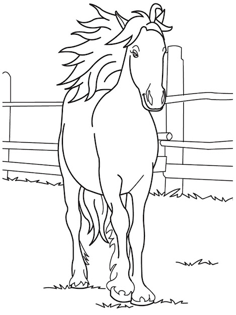 Free Template Horse Coloring Pages For Girls Template To Color Large  Size