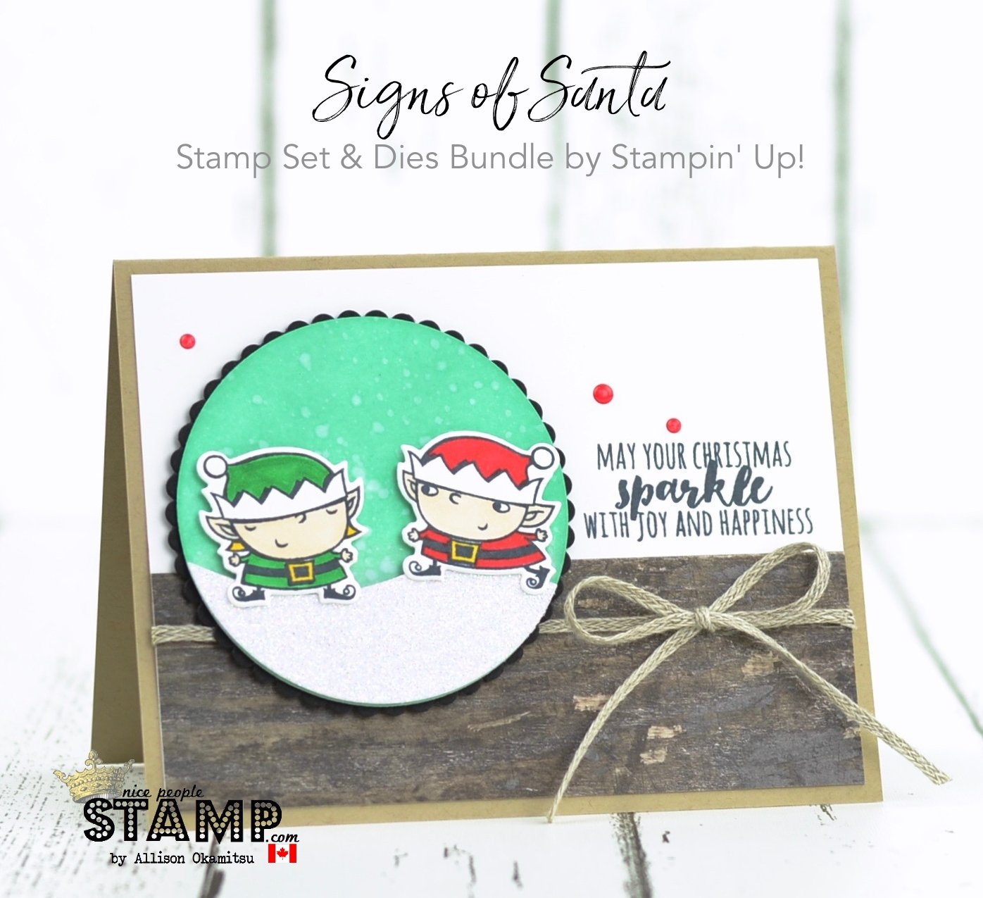 nice people STAMP! - Stampin\' Up! Canada: Signs of Santa Christmas ...