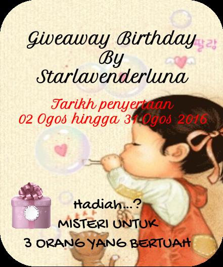 Giveaway Birthday By Starlavenderluna