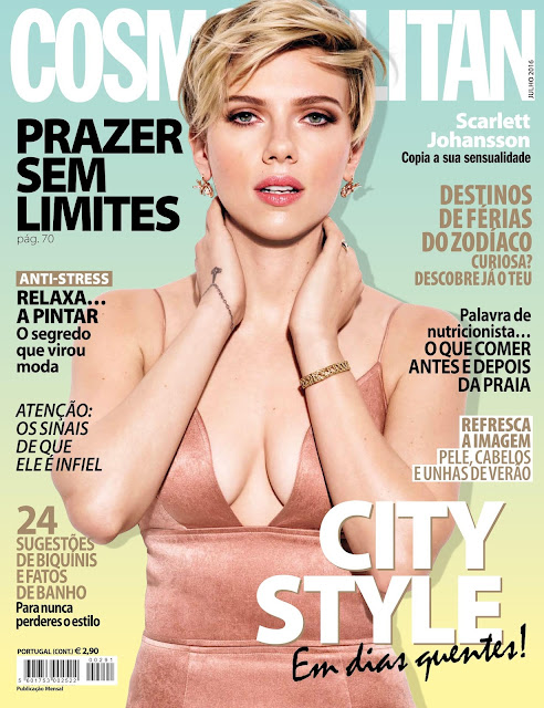 Actress, Singer, Model, @ Scarlett Johansson - Cosmopolitan Portugal, July 2016