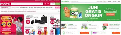 Beriklan di situs marketplace Bukalapak dan Tokopedia