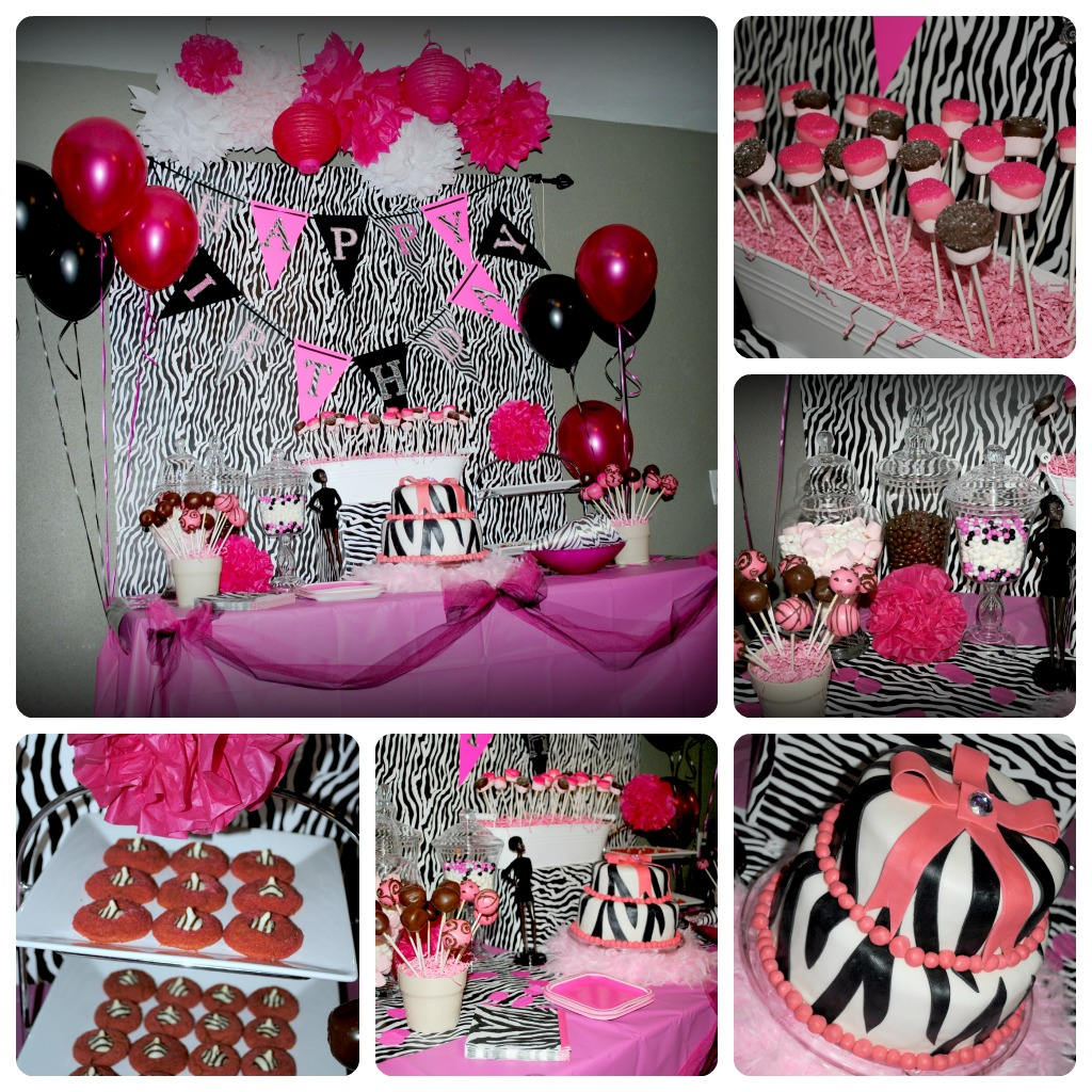 This Domesticated Diva: The {Zebra + Pink} Diva Party