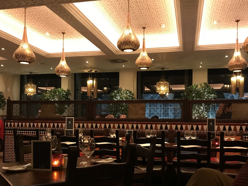 Cafe Andaluz interior - Aberdeen Restaurant Week