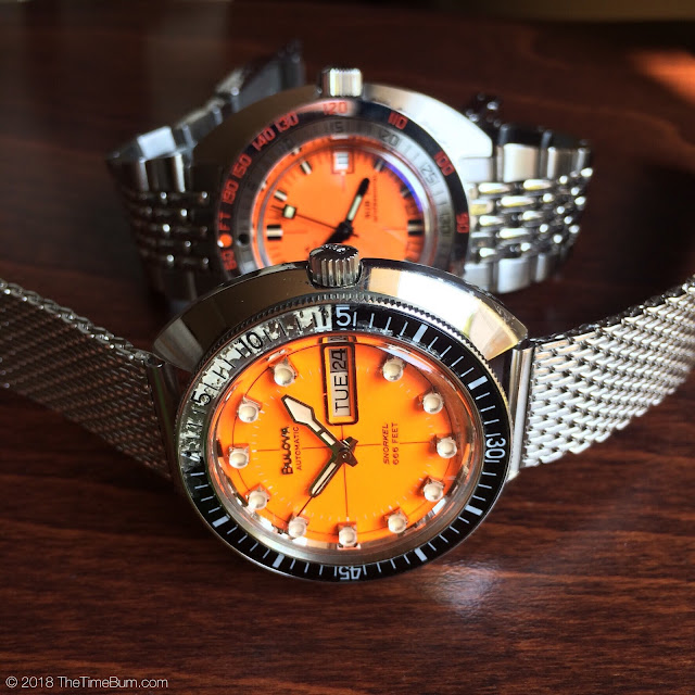 Vintage 1971 Bulova Oceanographer Snorkel V 666ft Devil Diver and Doxa SUB300