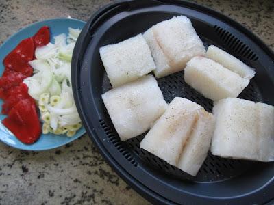 Bacalao en salsa de piquillos con Thermomix