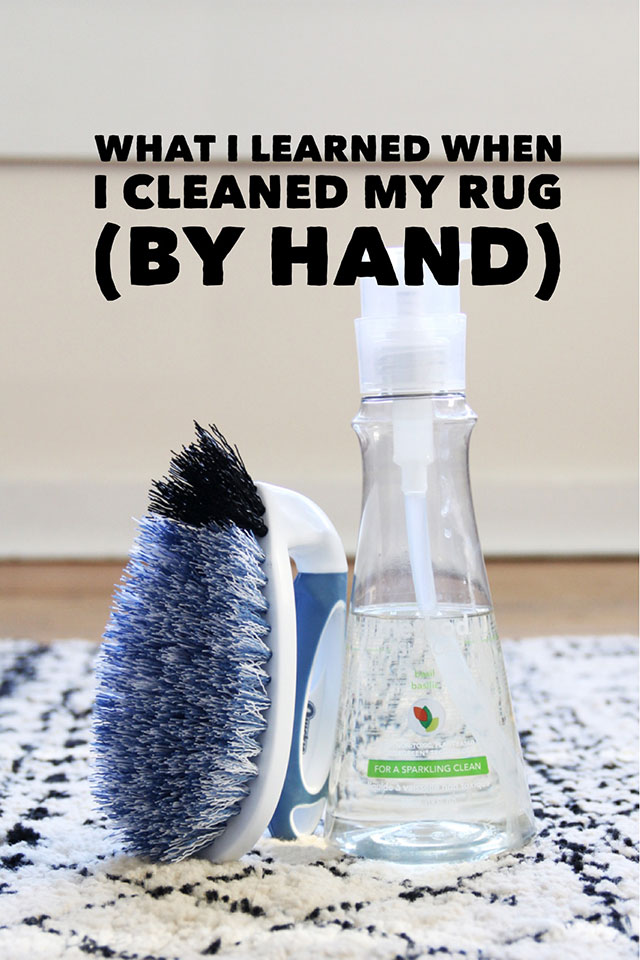 What I Learned from Cleaning my Rug (BY HAND!)
